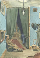 Artist P.J. Hill: Through the long night watches, telephone duty at White Horse Hotel, 1916