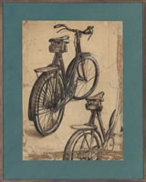 Artist Stanley Lewis: Study, Hyde Park in Summer, Stanleys Bicycle, 1931