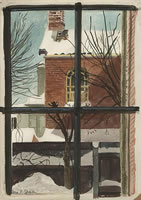 Artist Vera Spencer: View through a Window- Winter, c. 1948