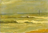 Artist John Moody: Houlgate, Waves breaking onto Shore, 7th September 1926