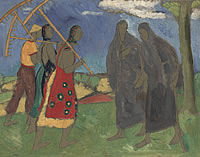 Artist Archibald Ziegler: Peasants with rakes