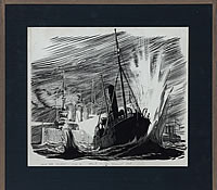 Artist Raymond Sheppard: North sea incident - Attack on the Fleet