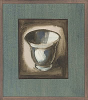 Artist Catherine Olive Moody: Study of a crucible on a white and brown ground
