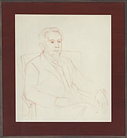 Artist Percy Horton: Portrait of James Fitton, circa 1950