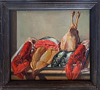 Artist George Herbert Buckingham Holland: Still life with lobsters and game, 1926