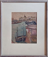 Artist Peggy Angus: Dieppe Harbour, 1939