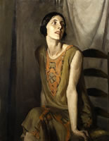Artist Victor Hume Moody: The Flapper Dress, Portrait of Miss Willoughby, c. 1919