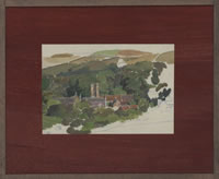 Artist Percy Horton: View of Ambleside, circa 1942