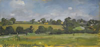 Artist Alan Sorrell: Essex landscape panoramic view