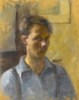 Artist Alan Sorrell: Early Self-Portrait, mid 1920s