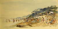 Artist Alan Sorrell: The Beach at Bournemouth