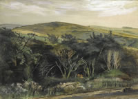 Artist Alan Sorrell: The South Downs at Jevington