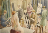 Artist Jean T Wheelhouse: The Royal College of Art Life Room, circa 1933