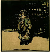 Artist William Nicholson: Sada Yacco, circa 1902